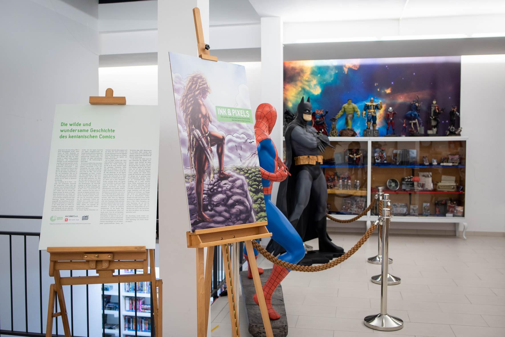 Ausstellung INK & PIXELS 2017/2018 Die wilde und wundersame Geschichte des kenianischen Comics.
