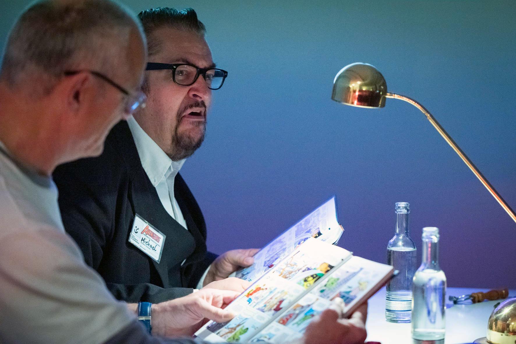 Museumsnacht 2018 im Cöln Comic Haus -Die Comicvorleser lesen vor.