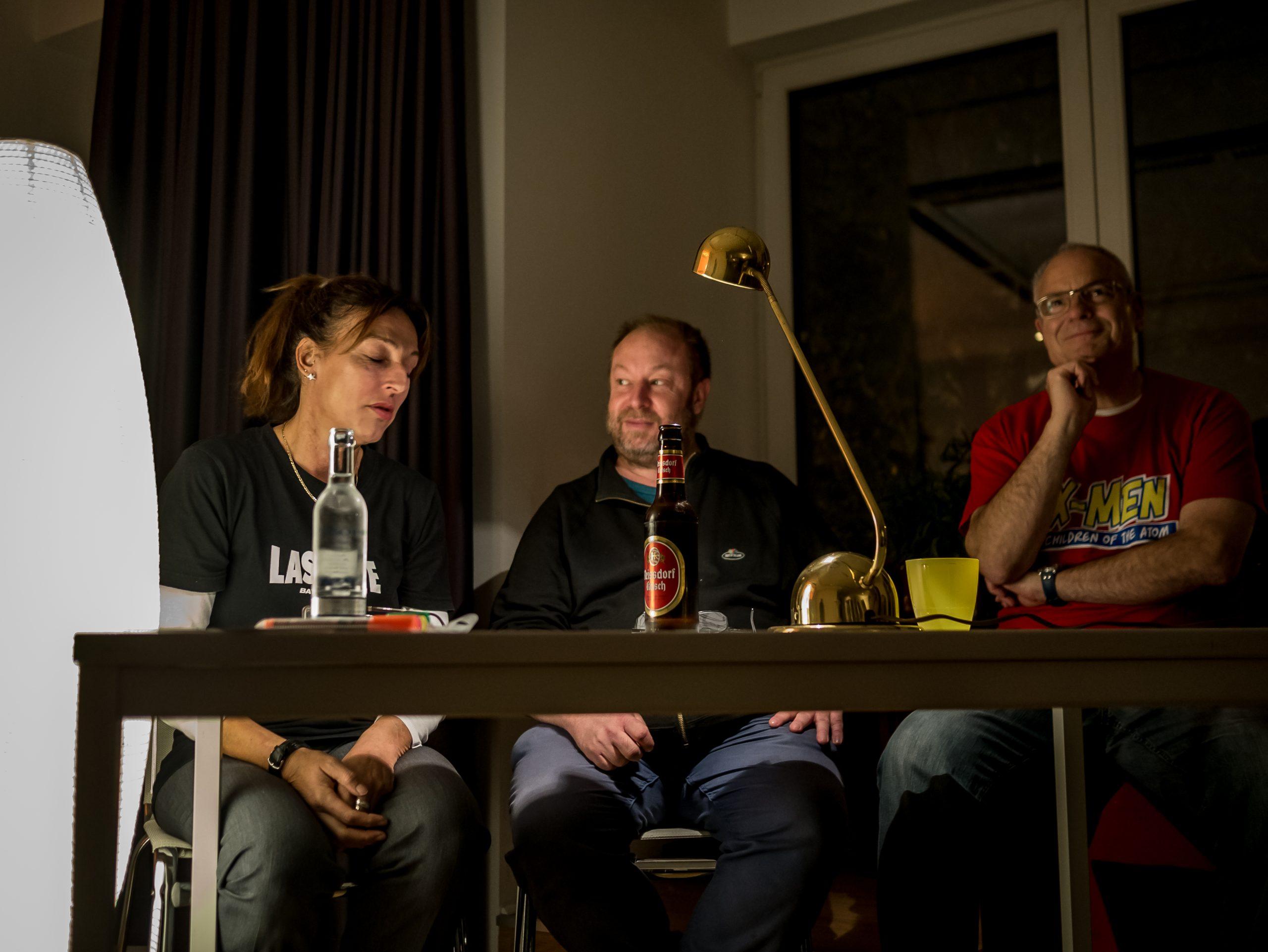 Lesung mit Andrea Volk, Martin Cordemann, Heinz Heidlberger