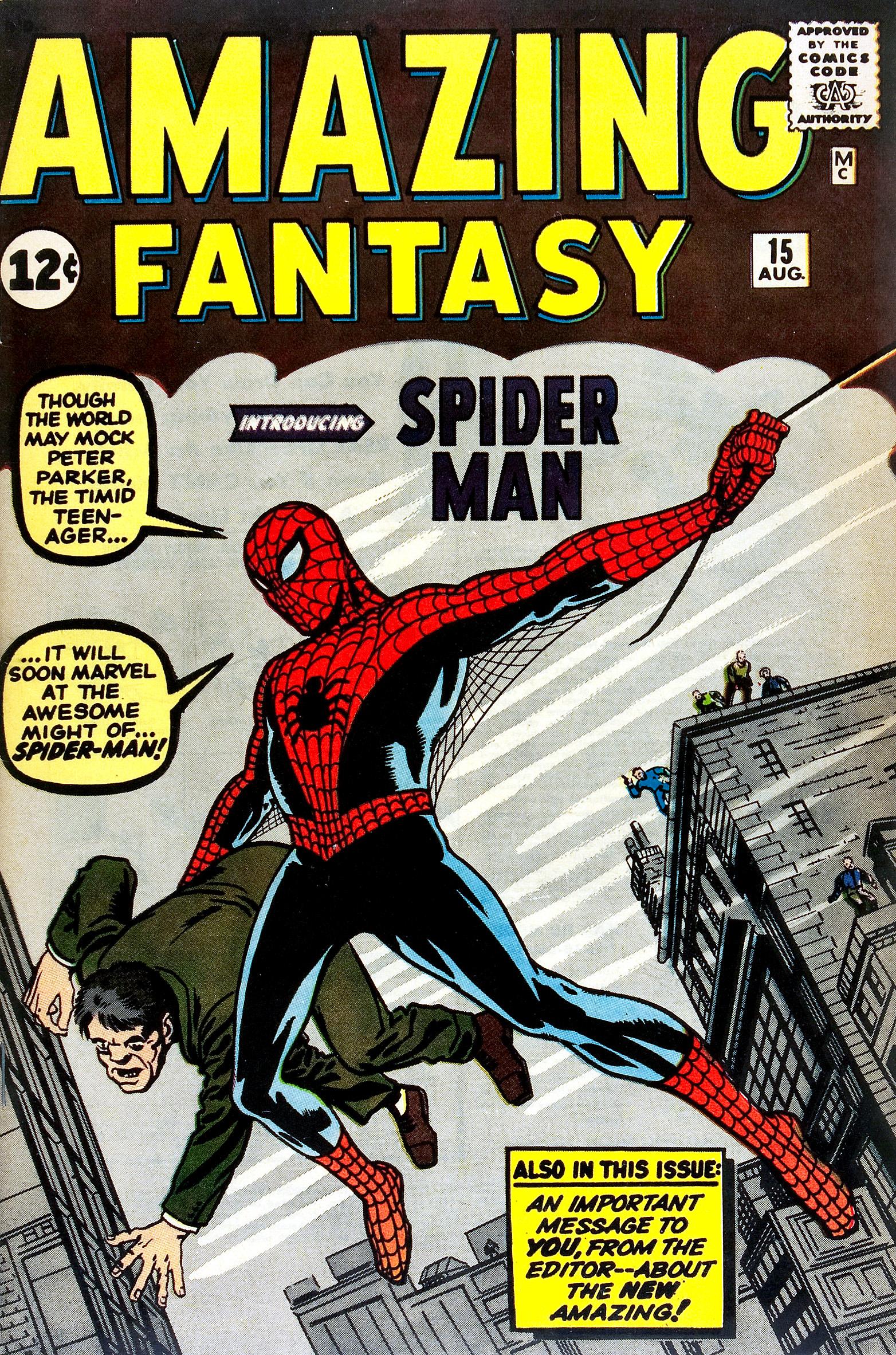 """Titelabbildung Comic-Heft """"Amazing Fantasy"""" Nummer 15 (Spider-Man)"""